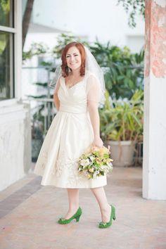 Miami Wedding At The Fire Tower By Kristen Wynn Photography Redhead Brideunconventional Dressolder