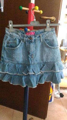 *Lotto 58* Gonna donna XS come nuova in Jeans -pink jeans- + omaggio
