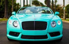 Forget the Jewelry, Here's a Tiffany Blue Bentley Continental GTC Limited dear lord baby Jesus!!!!!