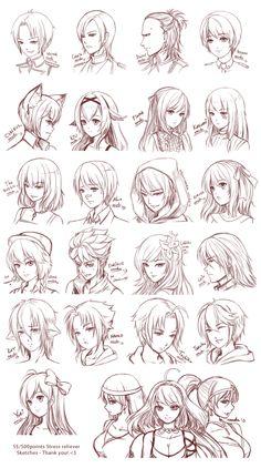 manga drawing tips SRC - by ZenithOmocha on deviantART - Drawing Techniques, Drawing Tips, Drawing Reference, Drawing Sketches, Drawing Ideas, Drawing Style, Sketch Art, Design Reference, Sketching