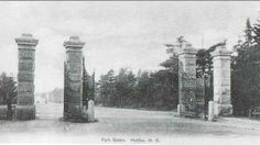"""""""The Park"""" that features in Anne of the Island is Point Pleasant Park, located on the southern tip of Halifax (Kingsport). It is a public park along the shore, full of wildlife and trees, with a martello tower and two pavilions. ~ Golden Gate Entrance of Point Pleasant Park, on Tower Road Anne Of The Island, Entrance Gates, Golden Gate, Pavilion, Wildlife, Southern, Tower, Public, Park"""