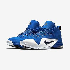 new concept fe0e0 9422b Nike Men Size 8.5 Zoom Penny VI Basketball Sneakers Penny Hardaway, White  High Tops,
