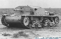 Italian Semovente self-propelled 75 mm gun; apparently in North Africa.