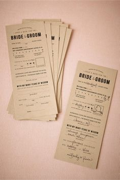 Adlib Notes for the bride & groom from BHLDN