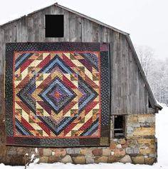 Grampa's Saw Mill American Barn, American Quilt, Barn Quilt Patterns, Barn Quilt Designs, Quilting Designs, Quilting Ideas, Painted Barn Quilts, Country Barns, Old Barns