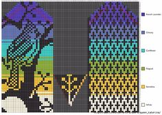 Очень красивые жаккардовые варежки. Обсуждение на LiveInternet - Российский Сервис Онлайн-Дневников Crochet Mittens Free Pattern, Fair Isle Knitting Patterns, Crochet Gloves, Knit Mittens, Knitting Charts, Knitting Designs, Knitting Socks, Loom Beading, Hand Warmers