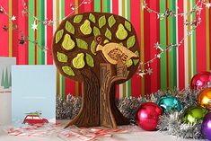 Partridge in a Pear Tree Gingerbread. That just looks fun! TUTORIAL + PDF pattern included.