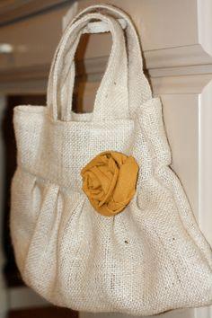 Love this burlap purse