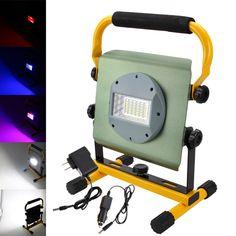 50W 2400LM 36x RGB LED Rechargeable Flood Spot Garden Work Lamp Outdoor Light