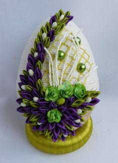 PIĘKNE JAJKO,PISANKA,OZDOBY WIELKANOCNE,RĘKODZIEŁO 8832067672 - Allegro.pl Ribbon Art, Easter Crafts, Quilling, Serving Bowls, Diy And Crafts, Eggs, Clip Art, Vintage Clip, Food