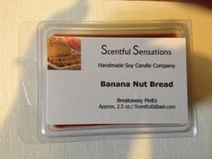 Items similar to Banana Nut Bread Soy Scented Wax Melts- Maximum Scented on Etsy Scented Wax Melts, Soy Wax Melts, Banana Nut Bread, Soy Candles, Homemade, Etsy, Food, Home Made, Essen