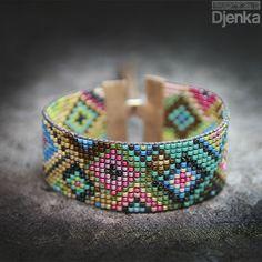 Bransoletka etniczna - beading - Bengbu - Djenka