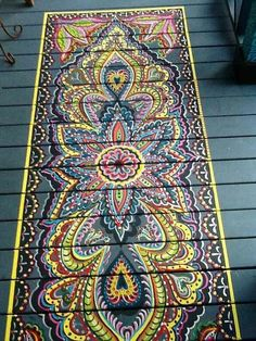 ☮ American Hippie Bohéme Boho Lifestyle ☮ Painted rug
