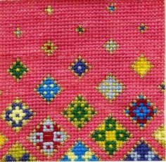 Contemporary and Colourful Cross Stitch Designs by MeadowCrossStitch Floating Flowers, Stitch Kit, Cross Stitch Designs, Etsy Seller, Kids Rugs, Unique Jewelry, Handmade Gifts, Contemporary, Color