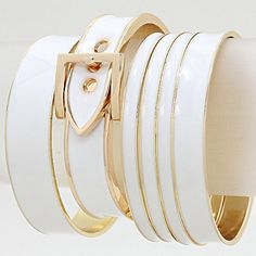 White & Gold Bangles · Ashas Jewelrybox · Online Store Powered by Storenvy