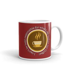 Before My Coffee - Mug. Whether you're drinking your morning coffee, your evening tea, or something in between – this mug's for you! It's sturdy and glossy with My Coffee, Morning Coffee, Coffee Mugs, Dishwasher, Drinking, Cups, Ceramics, Make It Yourself, Tea