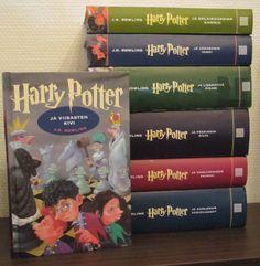 J.K. Rowling - Harry Potter -sarja (1. ja 4. kirja eri ulkonäöllä)