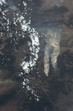 Fires in Colorado.  KN from space.