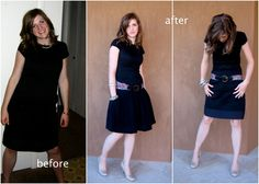 Add length to a dress! | Once there was this Funny Boy and this Artsy Girl: Black dress refashion