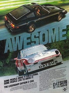 Vintage Automobile Advertising - 1980 Datsun 280-ZX, Car and Driver Magazine, July 1980.