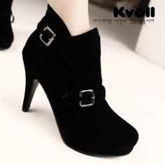 Simple Fashion Wild Buckle Short Boots