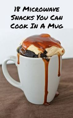 Easy mug recipes for any college student in a dorm or apartment #dormroomdining