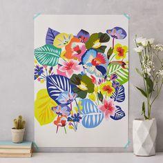 colourful flowers art print