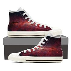 Get out of this world, to the Andromeda Galaxy. Full canvas double sided print with rounded toe construction Lace-up closure for a snug fit. Soft textile lining