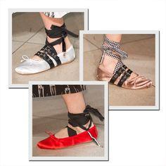 Sapatilhas do verão 2016 da Miu Miu já estão à venda (Foto: Imaxtree) Ballet Fashion, Fashion Shoes, Miu Miu Ballet Flats, Ballet Shoes, Tutu, Oxfords, Look, Shoe Bag, Style