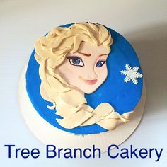 My own version of this popular Frozen cake. Loved giving this one to one of my favorite little ladys.  #treebranchcakery