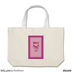 Baby_pink Large Tote Bag