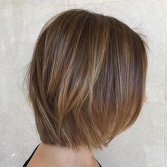 Brown Bob With Blonde Babylights