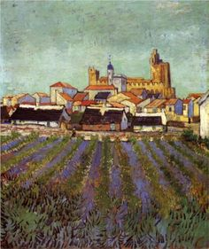 View of Saintes-Maries - Vincent van Gogh, 1888. Rijksmuseum Kröller-Müller, Otterlo, Netherlands