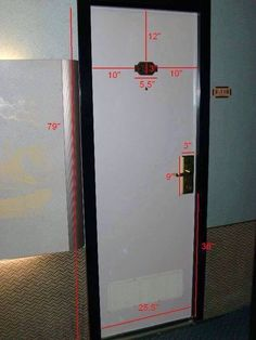 Door measurements for decorating on Carnival Cruise Ship