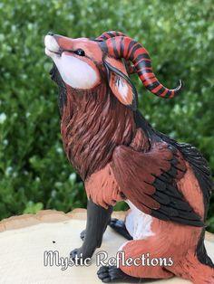 Handmade ooak Polymerclay Sculpture by Mystic Reflections Polymer Clay Creations, Fantasy Artwork, Mystic, Garden Sculpture, Etsy Seller, Dragon, Paint, Bird, Creative
