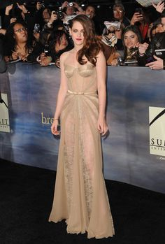 Va-Va-Voom! See the Sexiest Dresses to Hit the Red Carpet in 2012 : Kristen Stewart stepped out in a stunning Zuhair Murad gown — lacy, nude, sheer, and chiffon-paneled — from the designer's Fall '12 collection for the final Twilight premiere in LA.