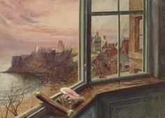 View from the window ,  Balcony House Tynemouth   -   Alice Boyd , 1854  British,1825-1897  Oil on cardboard,   25.4 × 35.5 cm (10 × 14 in)