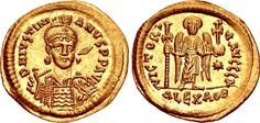 Byzantine Empire AV Solidus ND Alexandria Mint Justinian I 527-65AD
