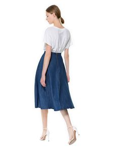 Image 1 of DENIM MIDI SKIRT from Zara