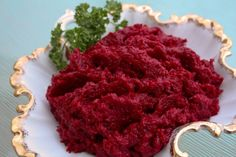 My FAVORITE Ukrainian Easter food: red beet and horseradish relish Hadyn. Not my… My FAVORITE Ukrainian Easter food: red beet and horseradish relish Hadyn. Not my recipe but looks similar. I use coarser, hotter horseradish and make this amount. Beet Recipes, Polish Recipes, Easter Recipes, Holiday Recipes, Easter Food, Polish Food, Recipies, Lithuanian Recipes, Ukrainian Recipes