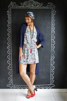 Look do dia: kimono e turbante Blog De repente Tamy | Moda, beleza e look do dia todos os dias! | www.derepentetamy.com
