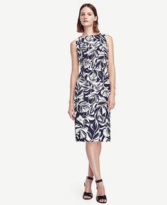 Shadow floral side button dress spring 2016, Ann Taylor $139