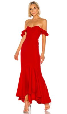 Shop for Lovers + Friends Lolita Gown in Fiery Red at REVOLVE. Free day shipping and returns, 30 day price match guarantee. Strapless Dress Formal, Prom Dresses, Ball Dresses, Wedding Dresses, Off Shoulder Gown, Shoulder Straps, Cold Shoulder, Promotion Dresses, Semi Formal Wedding