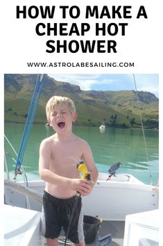 We all want a hot shower on a boat, but sometimes that just isn't practical... finally a cheap and easy solution! #sailing #shower #budget