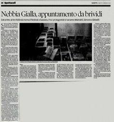 NebbiaGialla, appuntamento da brividi su La Gazzetta di Mantova
