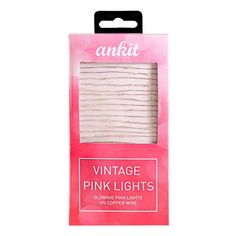 Vintage Pink String Lights,LED String Lights, Christmas Lights, Warm Pink Decor Rope Lights for Christmas, Holiday Decoration, Indoor, Outdoor, Wedding, Party