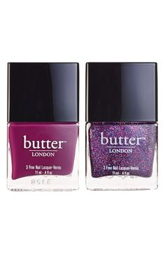 Free shipping and returns on butter LONDON 'Shambolic' Nail Lacquer Duo (Nordstrom Exclusive) ($30 Value) at Nordstrom.com. Amp up the volume of your manicure with a nail lacquer set by butter LONDON, featuring two stunning, highly-pigmented shades that give consistent coverage while promoting nail strength thanks to a blend of vitamins. And because butter LONDON wants to give you color without compromise, it does not add formaldehyde, toluene or DBP to any of its nail ...