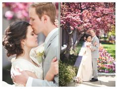 Salt Lake City Temple Wedding » Ravenberg Photography  salt lake city temple wedding of a lds bride and groom in Salt Lake City Utah.  I love shooting the Salt Lake Temple SLC temple in the spring #saltlaketemple