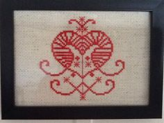Erzulie Voodoo Veve Cross Stitch 5x7 by CasualFashionQueen on Etsy, $28.99