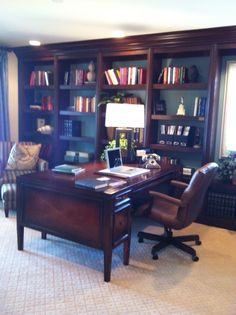 Just for the man with this decor home office. #mancave